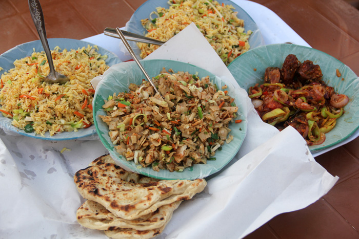 Sri Lankan curry dishes